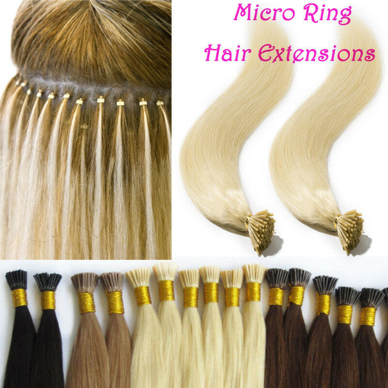 200s Stick I Tip Micro Ring Bead 100 Remy Human Hair Extensions