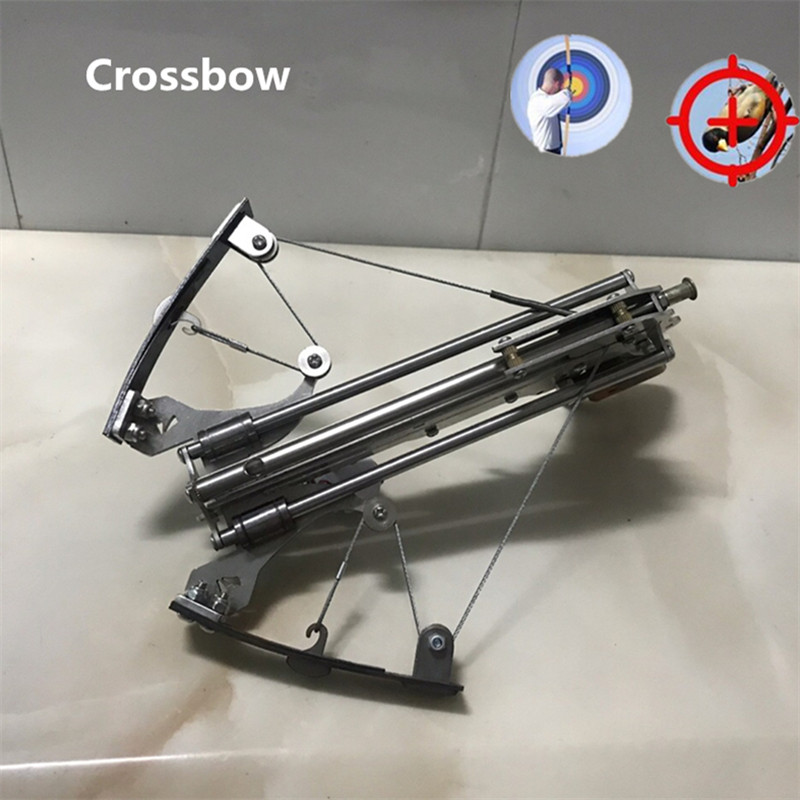 Mini Recurve Power Crossbow Stainless Steel Shooting Toy