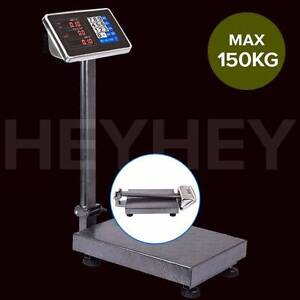 150kg/300kg Electronic Digital Platform Scale Black/Blue Melbourne CBD Melbourne City Preview