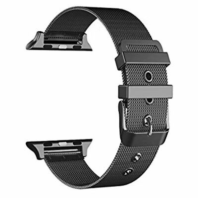Serie 2 Ersatz (Armband für Apple Watch 42mm Serie 1/2/3 Ersatzarmband aus Edelstahl in Schwarz)