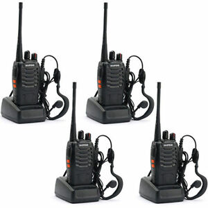 4*Walkie Talkie UHF 16CH 400-520MHz H500 5W  Portable Two-Way Radio AU Stock