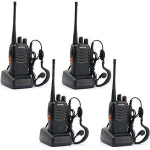 4*Walkie Talkie UHF 16CH 400-520MHz H500 5W  Portable Two-Way Radio AU Stock