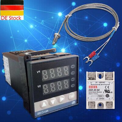 1pc PID Digitaler Temperaturregler REX-C100 mit K Thermoelement SSR Ausgang 220v