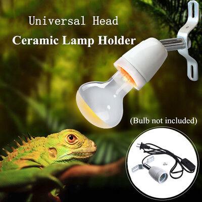 Aquarium Reptile Light Holder Stand For Ceramic Infrared Emitter Heat Lamp E27