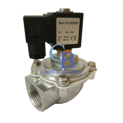 Ac220v G34 2 Way Right Angle Electromagnetic Pulse Valve Solenoid Pulse Valve