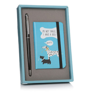 Dog's Life Notebook & Pen Boxed Gift Set – Cute Notepad Single Handbag Size