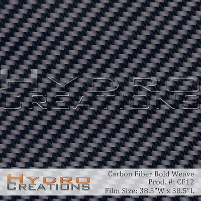 Hydrographic Film Hydro Dipping Water Transfer Bold Carbon Fiber 38.5 X 38.5