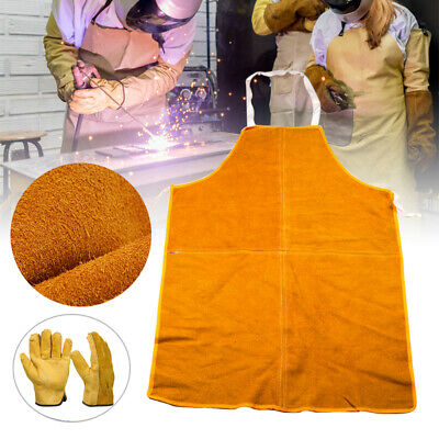 Cowhide Leather Welding Apron Welder Protective Clothing Mechanic Protectivegear