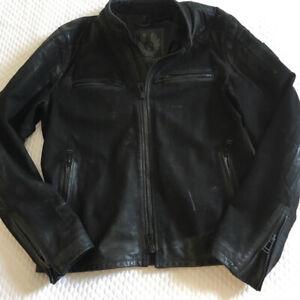 Belstaff Black Sueded Leather Weybridge Jacket