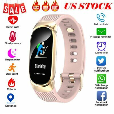 Women&Girl Waterproof Bluetooth Smart Watch Phone Mate For iPhone Android IOS US