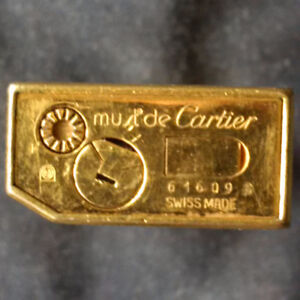 VINTAGE 1970s - 18K GOLD PLATED CARTIER LIGHTER