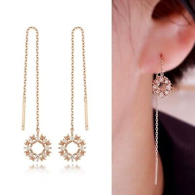 [STONE HENGE] Silver 925 Daily Drop Rose Gold Earrings SC0884 with Case K-beauty