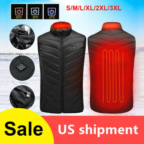 Heated Vest Warm Body Electric USB Men Women Heating Coat Jacket Winter Clothing Clothing, Shoes & Accessories