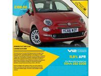 2016 66 FIAT 500 LOUNGE PARKING SENSORS PANORAMIC ROOF £20 ROAD TAX SVC HISTORY