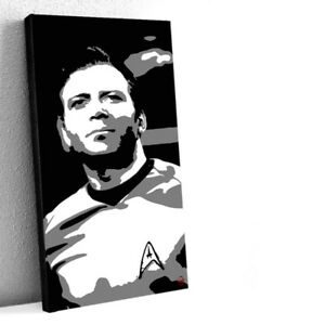 Captain James Kirk Star Trek Original 15X30 Acrylic Painting 1/1