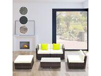 Wayfair 4 Seater Rattan Corner Sofa Set with Cushions
