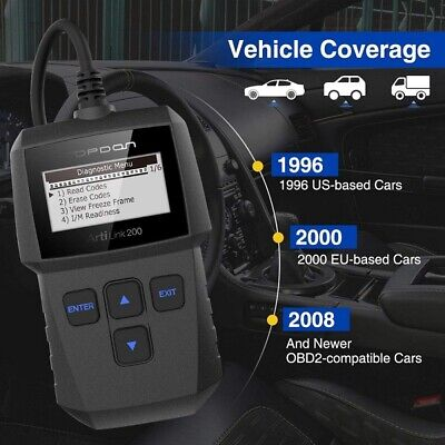 Car Engine Scanner Auto Diagnostic Tool OBD2 Code Reader Analyzer