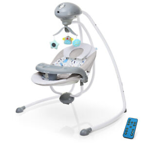 ELECTRIC BABY SWING WITH MUSIC / TOY / REMOTE CONTROL