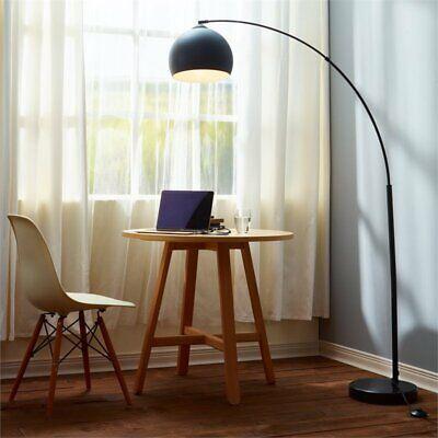 Versanora Arquer Arc Floor Lamp in Black ()