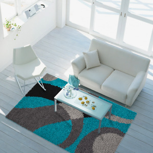 Shaggy Trukish Turqouise Area Rug,Living Room,Bedroom,Kids Room