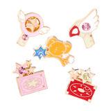 5pcs Anime Card Captor Sakura Star Wand Key Enamel Badge Pin Metal Brooch