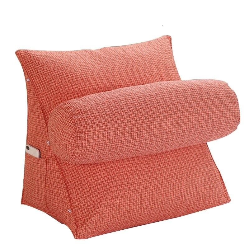 Knitted Sofa Cushion Back Cushion Home Office Cotton Pillow Stuffed Bolster