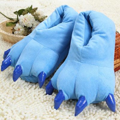 Cosplay Monster Paw Plush Slipper Monster Feet Slippers / 41-45 Blue