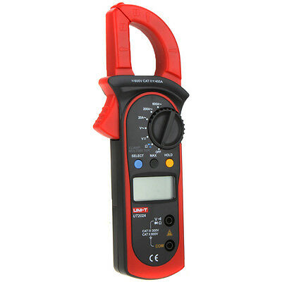 Uni-t Ut202a Lcd Digital Clamp Meter Multimeter Voltage Ampere Ohm Tester