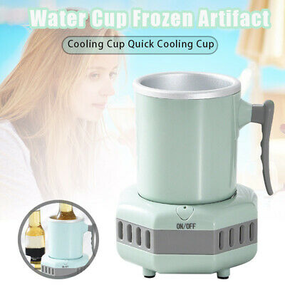 Smart Beverage Cooler Cup Fast Cooler Electric Cooling Mug Desktop Refrigerator