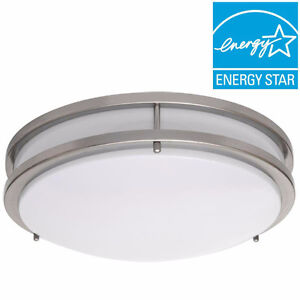 Brushed Nickel LED Round Flush-mount (Pack of 3 PCs -Free Ship)