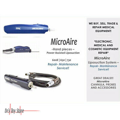 Microaire Liposuction Hand Piece Medical Equipment Evaluation Repair Service