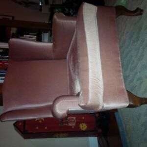 Wing back chair velvet from Manor House $45