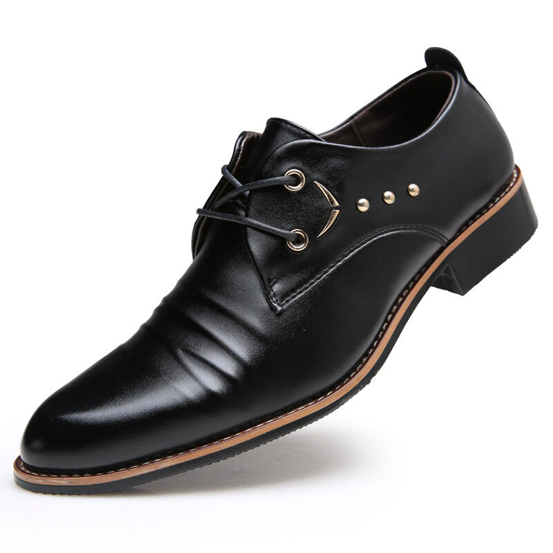 mens wedding prom oxfords leather shoes fashion classic