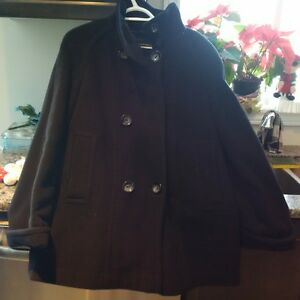 Black Jones New York Pea Coat - Size 8