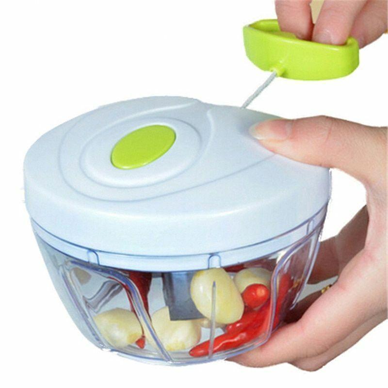 Manual Food Processor Mixer Kitchen Pull String Mini Slicer