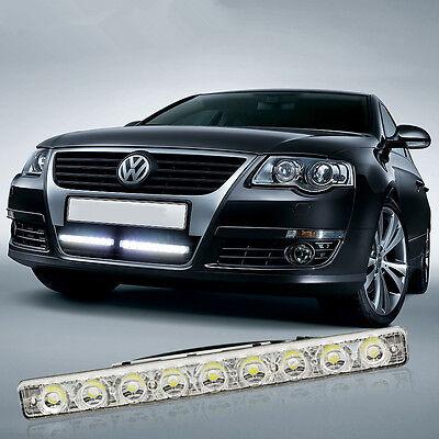 Super Bright Waterproof 18W 9 LED Car DRL Driving Daytime Running Light Fog Lamp
