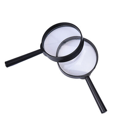 2X 5X Magnifier Hand Held Magnifying Glass Loupe Reading Jew