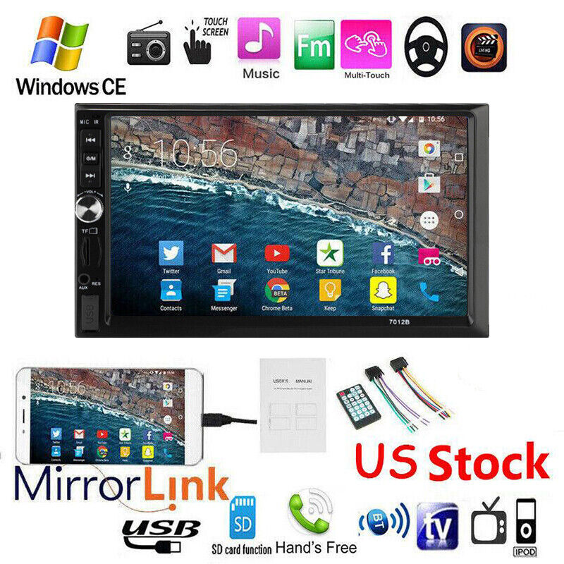 """7"""" 2 DIN Car Stereo Radio MP5 Player Touch Screen Head Unit  Bluetooth FM AUX"""