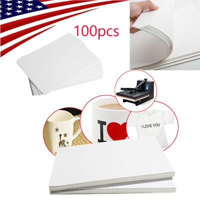 100pc A4 Sublimation Paper Iron On Heat Press Transfer Paper Inkjet Print Tshirt