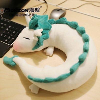 Anime Spirited Away White Dragon Haku Cute Doll Plush Toy Pillow Neck U-Shape