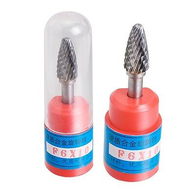 Cylindrical Tungsten Carbide Burr Bur Cutting Tool Die Grinder Bit 1/4