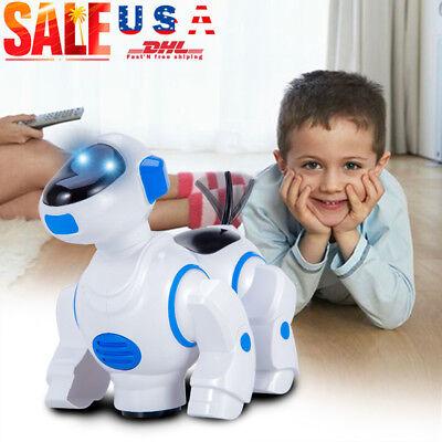 Toys For Girls Kids Light Music Smart Robot Dog 3 4 5 6 7 8 9 10 Years Cool Gift - Smart Toys For Kids