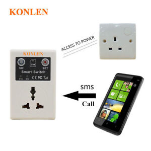 GSM Power Socket Switch Outlet Based SIM Card SMS Call Remote Control Smart Home
