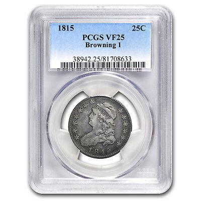 1815 Capped Bust Quarter VF-25 PCGS