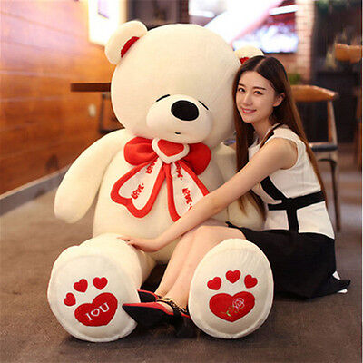 life size giant teddy bear stuffed big valentines day bear i love you toys  - Life Size Valentines Day Teddy Bear