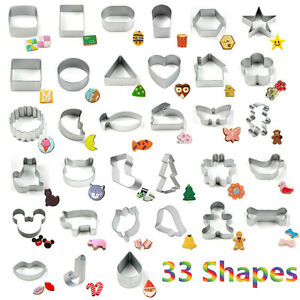 33 formes moules emporte pi ce metal p tisserie p te g teau fondant biscuit no l ebay. Black Bedroom Furniture Sets. Home Design Ideas