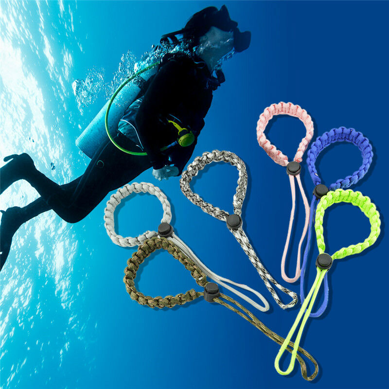 2 Pack Scuba Diving Flashlight Wrist Strap Lanyard Safety Camera Grip Rope