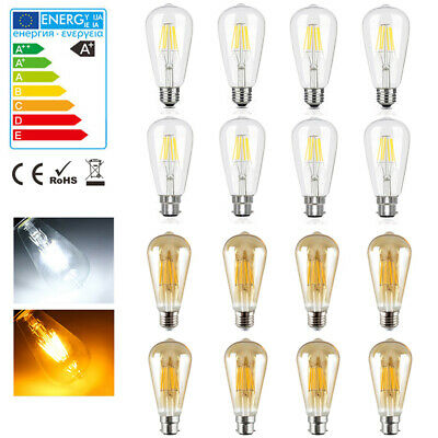 Vintage LED Light Bulb Clear Filament Retro Edison Lamp 4/6/8W B22/E27