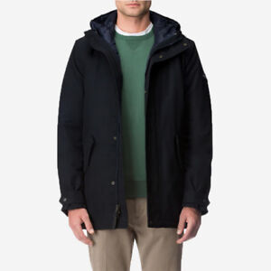 BNWT Woolrich Wax Mountain Parka 3-in-1 Navy Small FW18