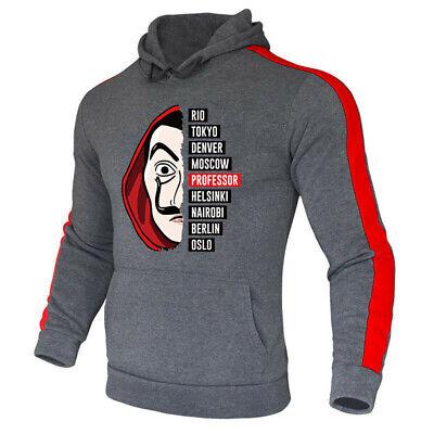 Money Heist Men Pullover Hoodie Streetwear Sweatshirts Skateboard Casual Hip Hop